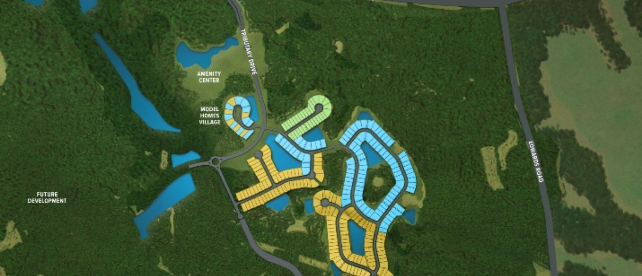 tributary's master site plan for a blog